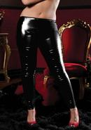 Shiny Stretch Lame Tights-black-x (disc)