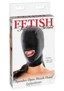 Fetish Fantasy Spandex Open Mouth Hood Black