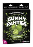 Edible Crotchless Gummy Panties - Green Apple